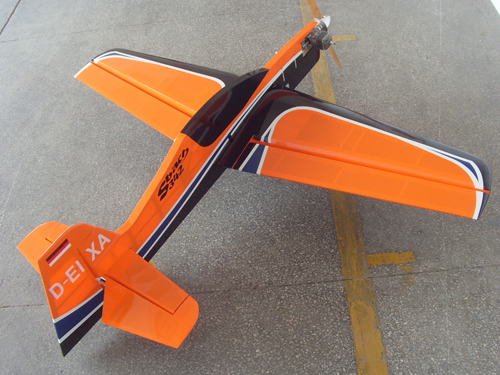 Sbach 342 20CC 65'' Profile Aerobatic RC Airplane Orange B