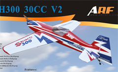 ARFMFG Sbach 300 30CC V2 B Carbon Aerobatic RC Airplane