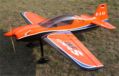Skyway SBach 342 30CC 73'' Carbon Fiber RC Airplane Orange B