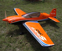 Skyline SBach 342 30CC 73'' B Aerobatic RC Airplane Orange