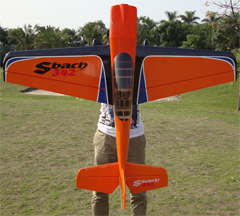 Skyline SBach 342 70 60'' Aerobatic RC Airplane Orange B