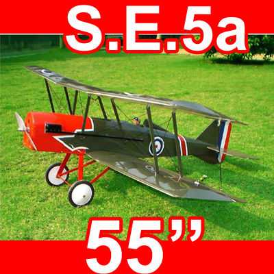 S.E.5a SE5a 50 55'' Electric/Nitro RC Airplane ARF