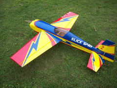 Skyline Slick 540 50E 55''/1400mm A 3D Aerobatic RC Airplane ARF Pre-Hinged Carbon Version, Slightly Damaged