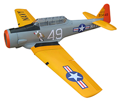 "Soaring Eagle AT-6 Texan 84""/2135mm 45CC Fiber Glass RC Airplane With Solartex Fabric Covering Silver"