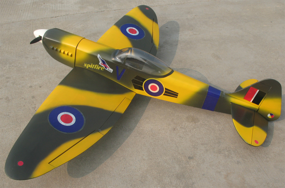 Spitfire 60 63'' Nitro RC Airplane ARF With Retracts