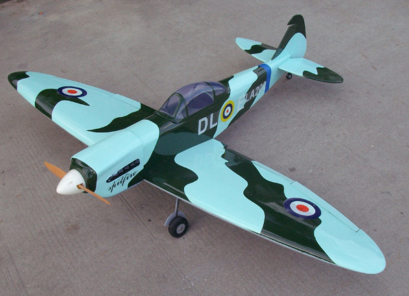 Spitfire 60 63'' Nitro RC Airplane ARF With Retracts, Missing Canopy