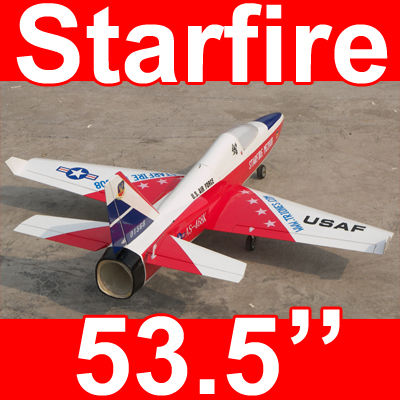 Starfire 53'' Electric Ducted Fan RC Jet Airplane ARF Red