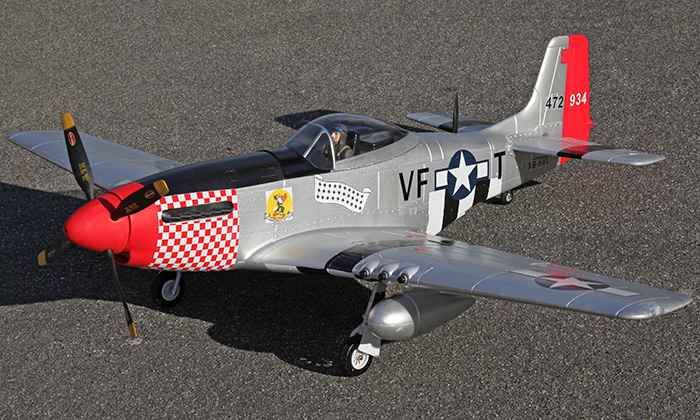 Starmax P-51 Mustang 1600mm/63in EPO RC Airplane Shangri La PNP, Returned Item