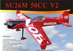 Goldwing ARF-Brand Su-26 50CC V2 88'' A Carbon RC Airplane