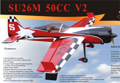 ARFMFG Su-26 50CC V2 88'' B Carbon RC Airplane