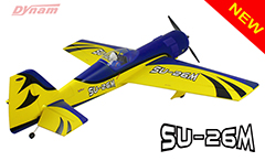 Dynam Sukhoi SU-26M 47''/1200mm EPO Aerobatic Electric RC Plane PNP