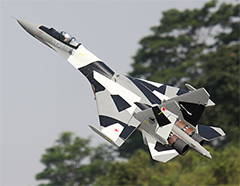 Freewing SU-35 Twin 70mm EDF With Thrust Vector RC Jet PNP Version Grey
