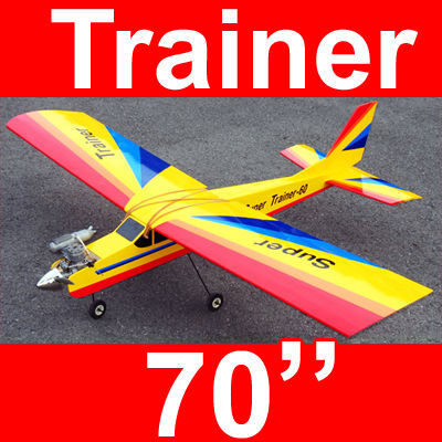 Super Trainer 60 70'' Nitro Gas RC Airplane ARF, Missing Canopy