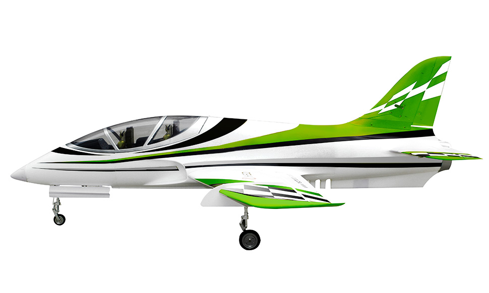 HSD Super Viper 105mm Bypass EDF 1500mm Wingspan RC Jet Kit V2 Green