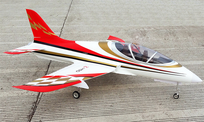 HSD Super Viper 105mm Bypass EDF 1500mm Wingspan RC Jet Kit V2 Gold