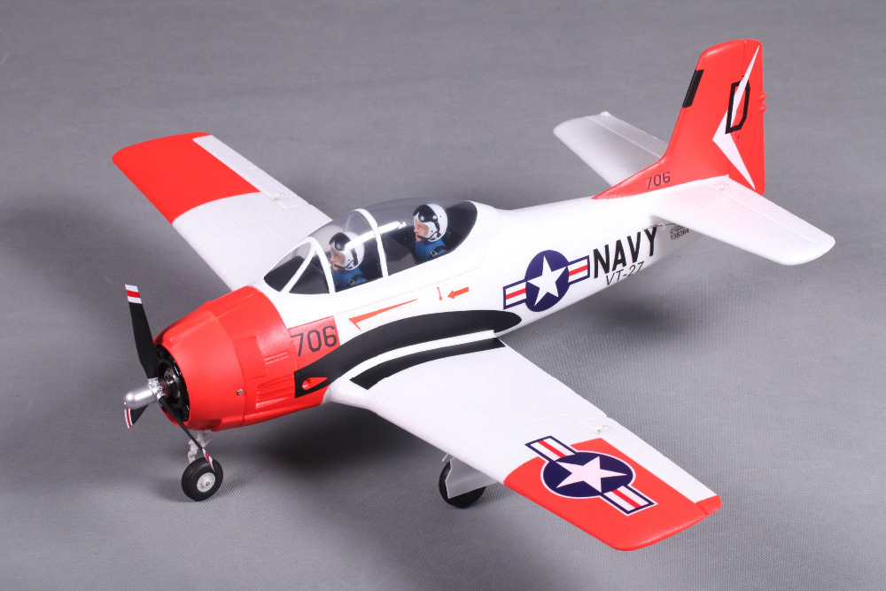 T-28 Trojan A-202 Warbird 800mm Wingspan EPO Electric RC Plane PNP Version with Motor ESC Servo