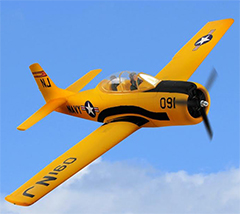 Dynam T-28 Trojan V2 1270mm EPO RC Plane With Retracts PNP Yellow