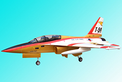 Unique Models T-50 820mm Wingspan 70mm EDF RC Jet PNP Golden
