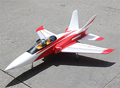 Taft Hobby Red Super Scorpion 90mm V2 8S RC EDF Jet ARF