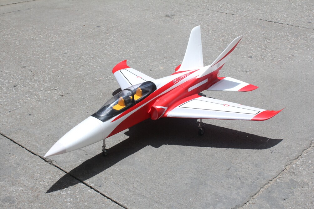 Taft Hobby Red Super Scorpion 90mm V2 8S RC EDF Jet ARF With Retracts