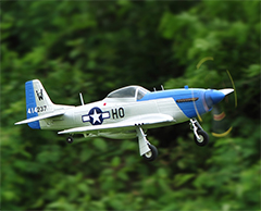 TopRC P-51D Mustang 750mm/30.00in EPO Electric RC Airplane Ready-To-Fly Blue
