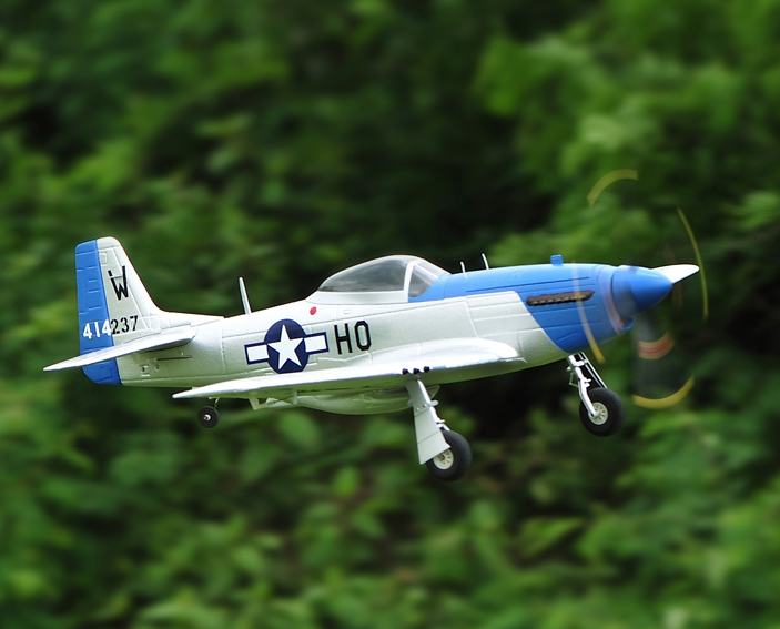 TopRC P-51D Mustang 750mm/30.00in EPO Electric RC Airplane PNP Blue