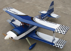 Ultimate 120 55'' Nitro Gas Bipe RC Airplane ARF Blue