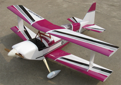Ultimate 120 Bipe Biplane Nitro RC Airplane ARF Purple