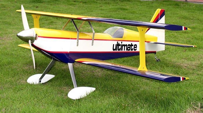 Ultimate 46 42'' Nitro RC BiPlane Airplane ARF Yellow Star