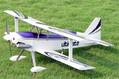 Ultimate .46 42'' Nitro Gas RC BiPlane Airplane ARF Purple