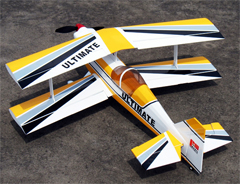 Ultimate .46 42'' Nitro Gas RC BiPlane Airplane ARF Yellow Strip