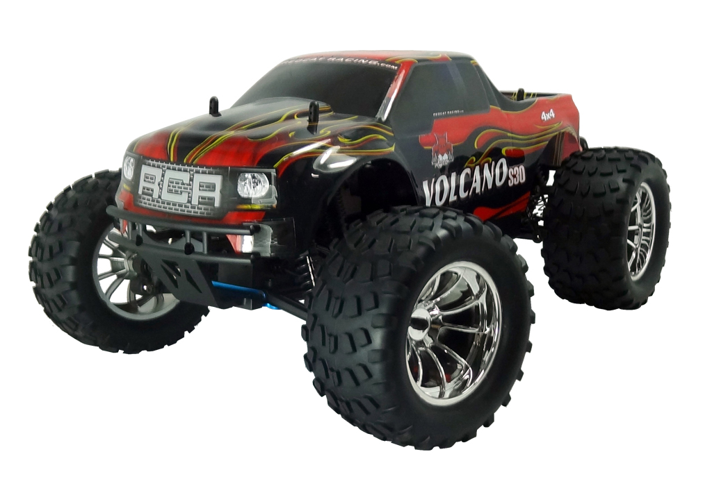 Volcano S30 1/10 Scale Nitro Monster Truck 2.4GHz Red