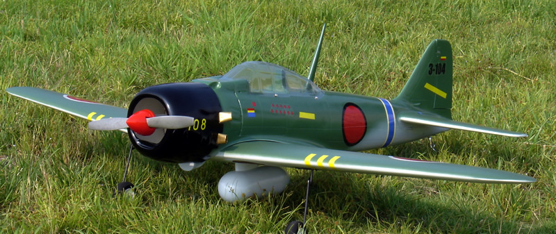 Zero Fighter 50 53.5'' Nitro RC Airplane ARF