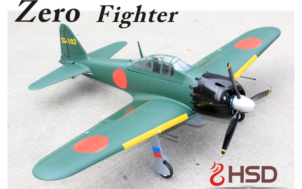 HSD Zero Fighter 1100mm EPO Electric RC Plane Kit Version With Retracts
