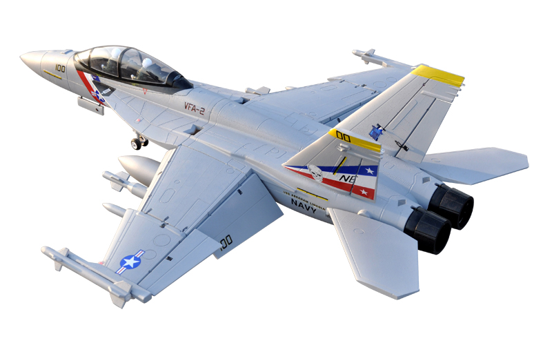 LX F-18 Twin 70mm EDF Bounty Hunter RC Jet With Retracts Kit
