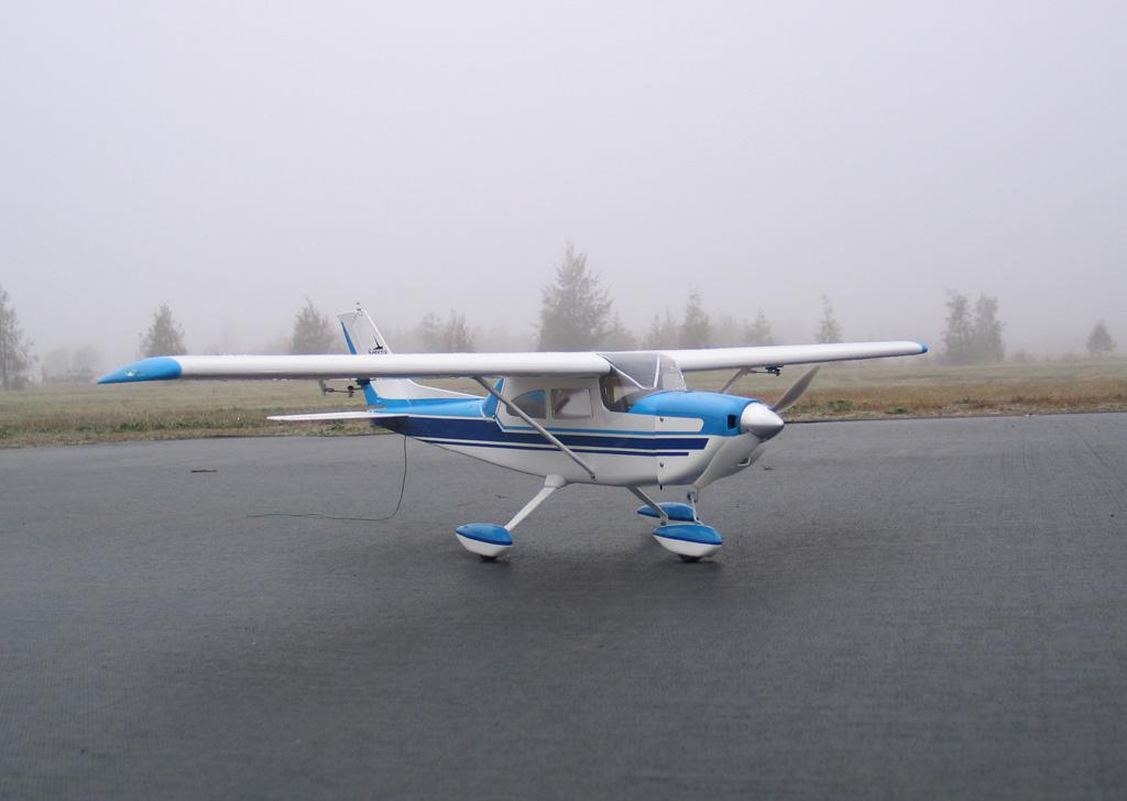 Cessna 182 63 Balsa Fiber Glass Rc Airplane Returned