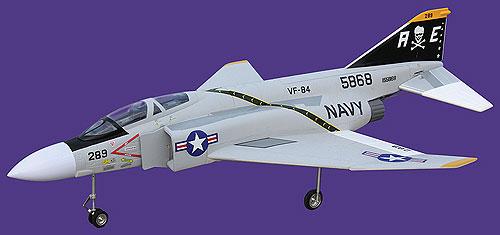 Flyfly F4 Phantom 90mm EDF RC Jet Kit Version - General Hobby