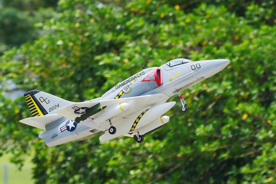 LX Super A-4 Skyhawk RC EDF Jet Kit - General Hobby