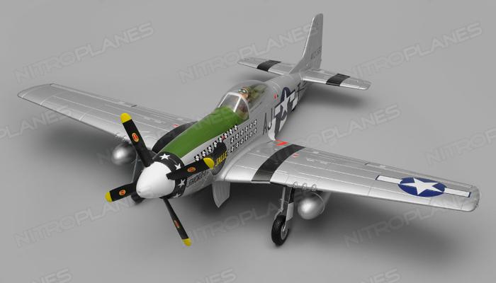 P-51 Mustang 1450mm Warbird Electric RC Airplane Kit Version