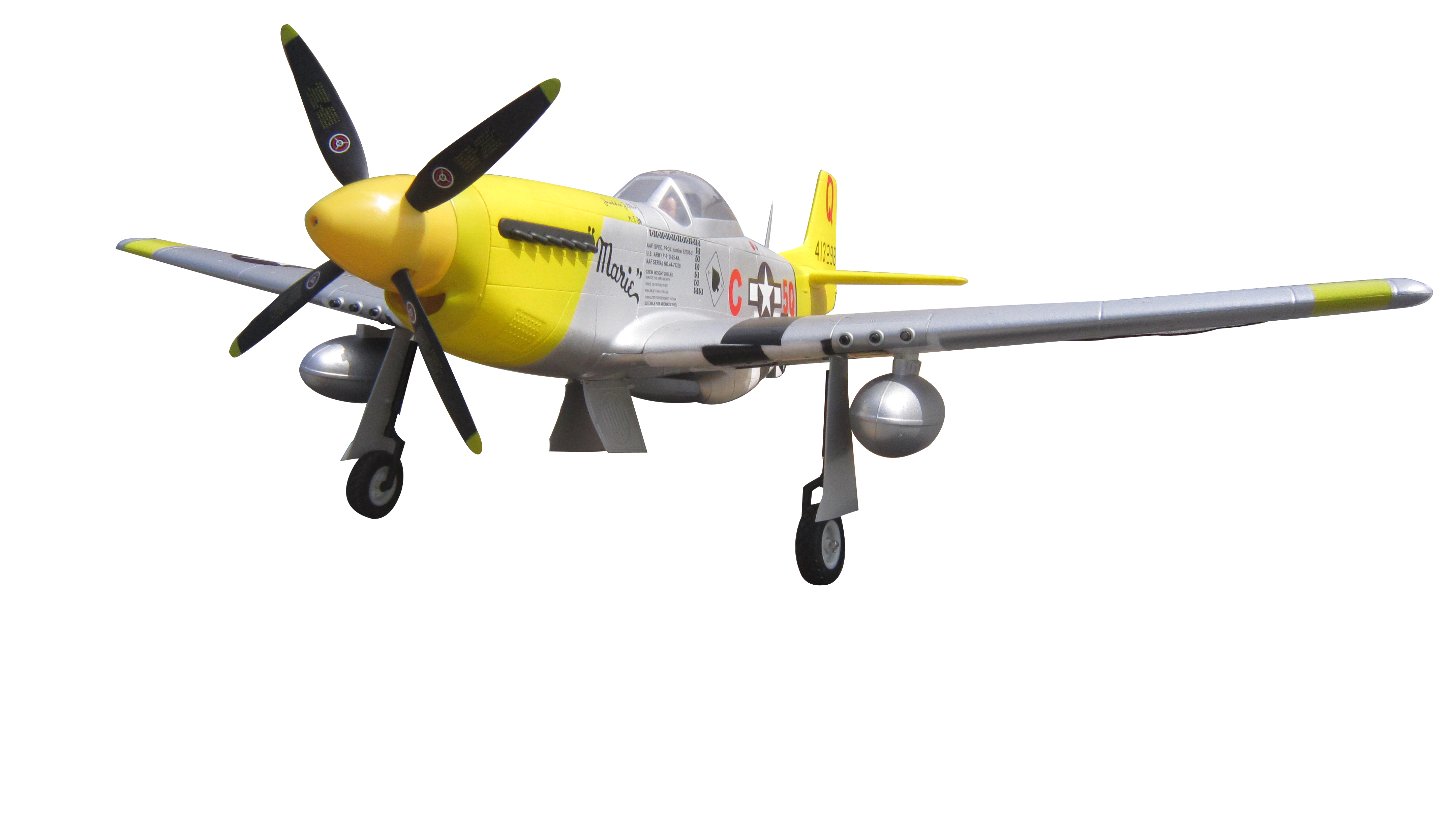 P 51 Mustang Marie 1400mm 57 Epo Electric Rc Airplane