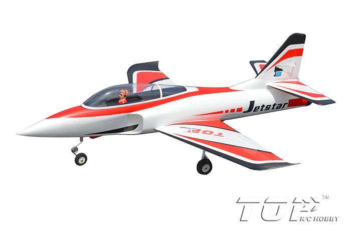 TopRC Jet Star 800mm Wingspan RC Jet PNP Red - General Hobby